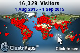 Locations of visitors to Top Elite (last month)